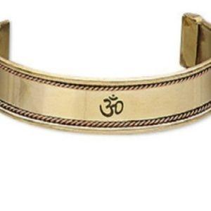 Antiqued Copper and Brass Cuff Bracelet